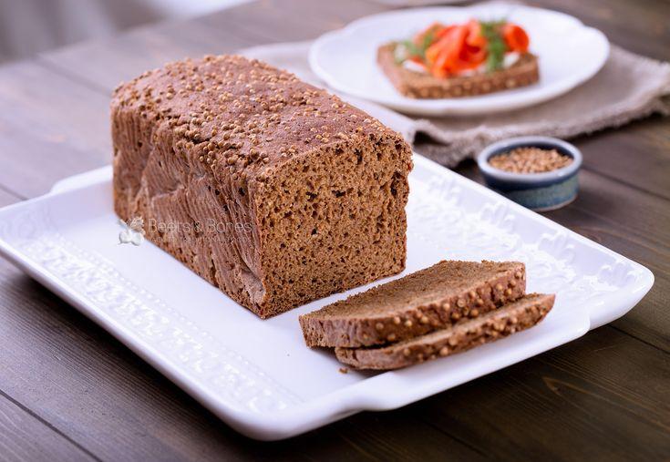 Very popular in Russia, traditional dark sourdough Borodinsky bread made with whole grain rye flour and aromatic coriander.