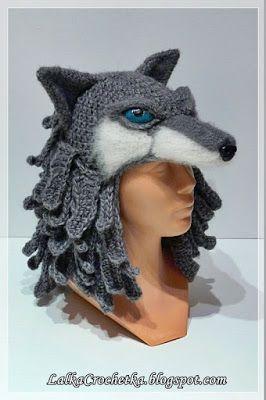 http://lalkacrochetka.blogspot.com/2017/01/wolf-hat-wilcza-czapka.html ~ Truly beautiful crochet work!