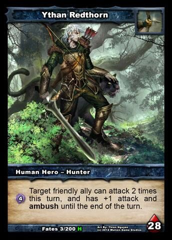Shadow Era, Shattered Fates expansion: New Human Hunter Hero, Ythan Redthorn