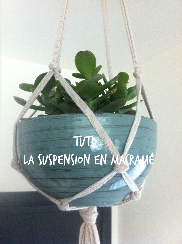 Suspension en macram le tuto macram pinterest macram et articles - Faire macrame suspension ...