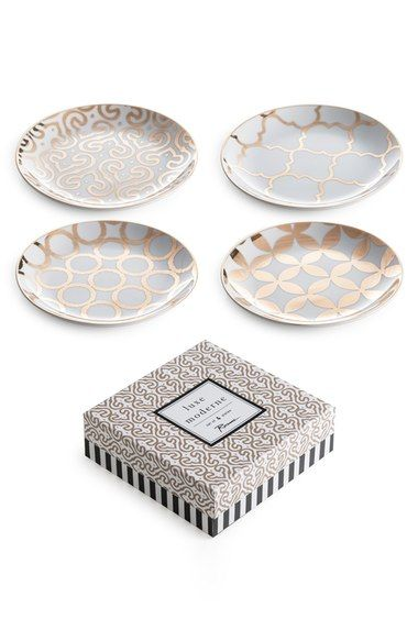 Rosanna 'Luxe Moderne' Appetizer Plates (Set of 4) available at #Nordstrom