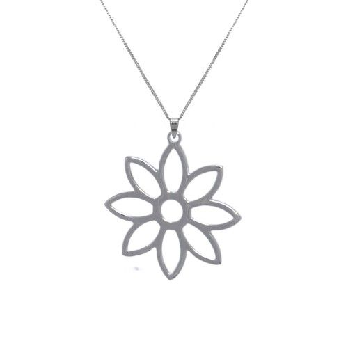 Namaqua Daisy Flower Necklace • Sterling Silver