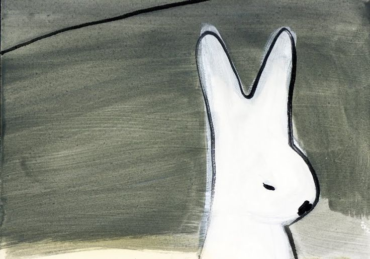Oh, by the way...: Speaking Of Bunnies: Bunny Art. Painting by Roger Clayton.