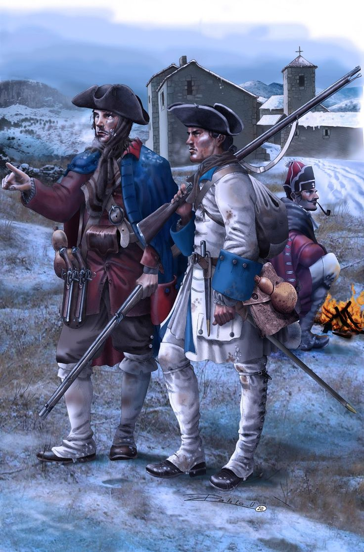 Guerra de Successió. Miquelet i soldat Imperial a la Batalla de Prats del Rei al…
