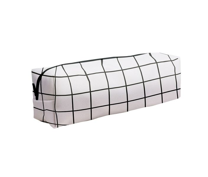 Pouches & Pencil Cases – Black grid white pencil case make up case school – a unique product by MoodyMood on DaWanda