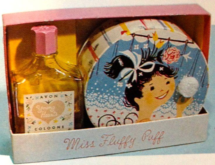 Avon 'Miss Fluffy Puff' Beauty Dust & Cologne Set, 1954