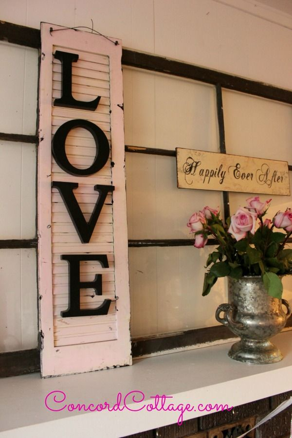 Old Shutter With LOVE :: Hometalk