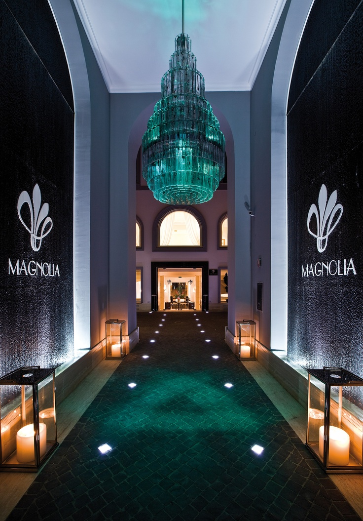 """Rome Restaurants - Magnolia, the gourmet restaurant at Jumeirah Grand Hotel Via Veneto features a spectacular entrance, gallery, courtyard, arched dining rooms, """"flowers and fruits """" a themed collection of paintings by famous Italian artists, from Cascella to Schifano, from Monti to Ventrone, and the outstanding cuisine of its Japanese Chef Kotaro Noda."""