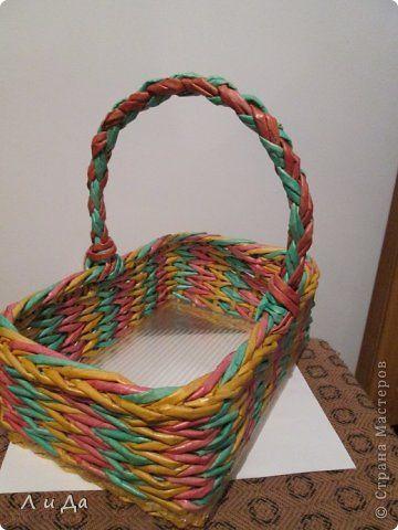 Четырёхгранный двухцветный шнур.Ручка для плетёных корзинок. - Ручки