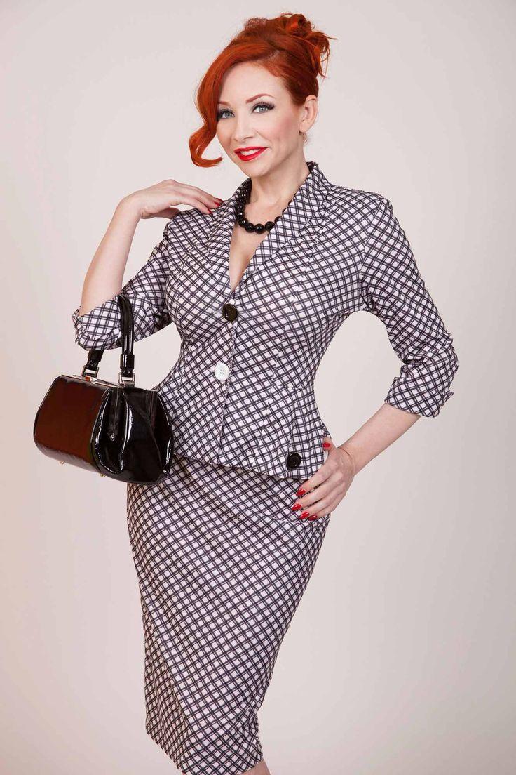 checkers pencil skirt by tatyana clothing model ms redd