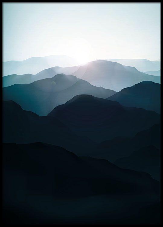 Poster mit Foto, Wald und Natur