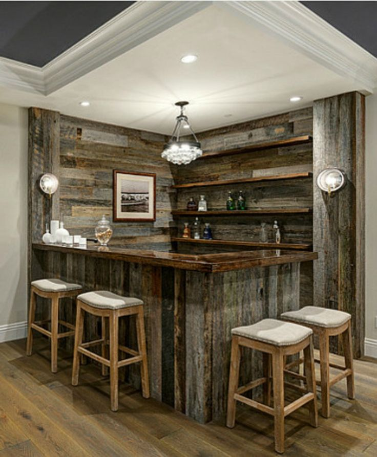 Home Bars Design Ideas: Reclaimed Barnwood Corner And Bar
