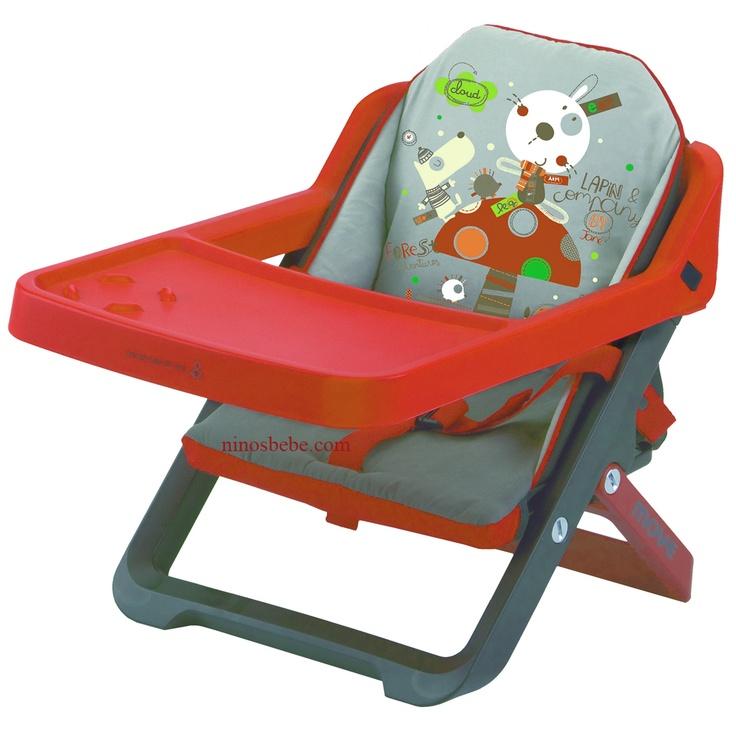 Silla para bebés plegable y convertible en trona, se acopla a la silla del adulto mediante dos correas de sujeción. Incorpora cinturón de seguridad, bandeja y tapizado acolchado extraíbles para facilitar su limpieza. De reducido peso y volumen, incluye bolsa de transporte. Cómprala en: http://www.ninosbebe.com/tienda/Puericultura/Tronas-de-viaje/Trona-viaje-MOVE-P62.html#cont
