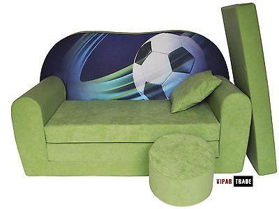 schlafsofa kids sofa kindersofa sofa 3 in 1 mit kissen hocker matratze kids sofa. Black Bedroom Furniture Sets. Home Design Ideas