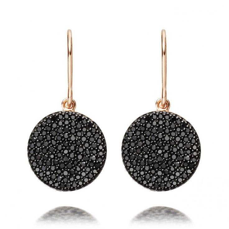 black diamond Icon Earrings
