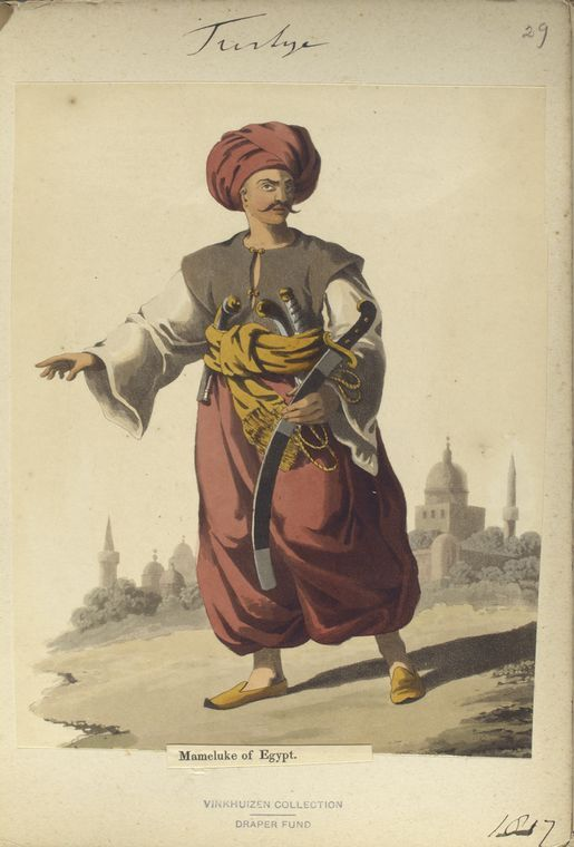 Mameluke of Egypt. The Vinkhuijzen collection of military uniforms / Turkey, 1818. See McLean's Turkish Army of 1810-1817.
