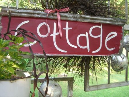 Cottage sign...(from Cherry Hill Cottage)