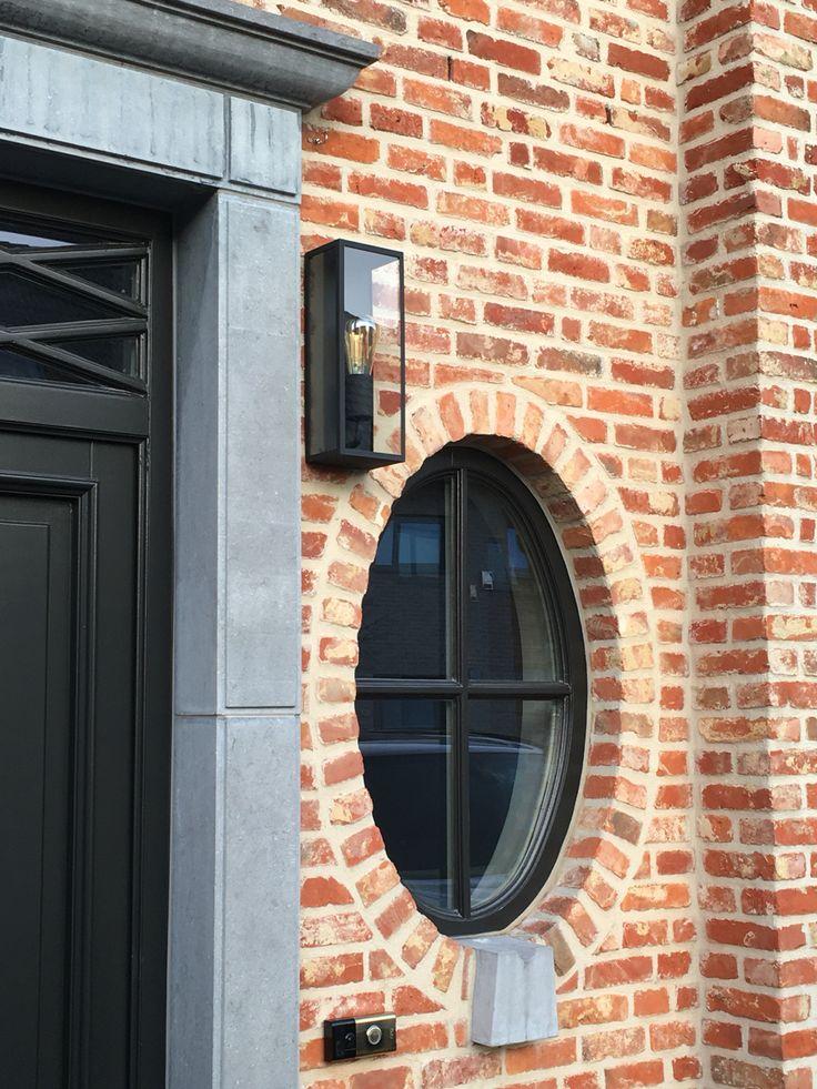 Zwarte ramen home gevel pinterest ramen - Buitenverlichting gevelhuis ...