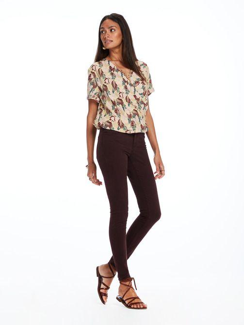 La Bohemienne - Pantalon en satin de coton | Coupe skinny taille moyenne