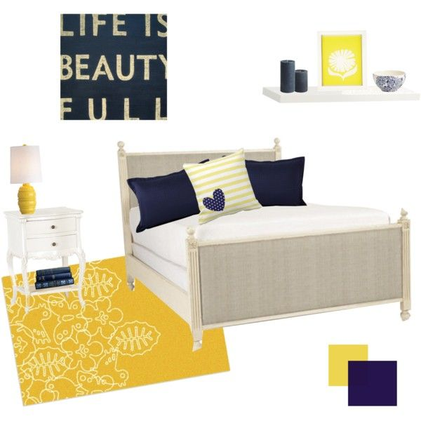 navy blue/ mustard yellow decor bedroom | Everything Fashion Beauty Home Top Sets