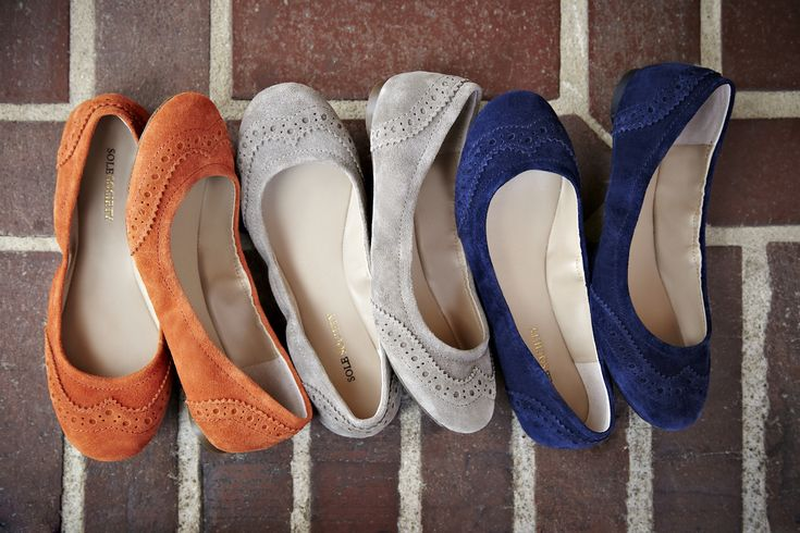 I love these little suede flats. Can't decide which color I like best. I'm leaning towards the blue, but the grey is close behind, and a pop of orange is always nice