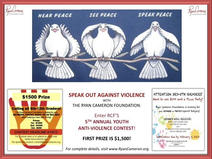 Best Th Annual AntiViolence Youth Contest Images On