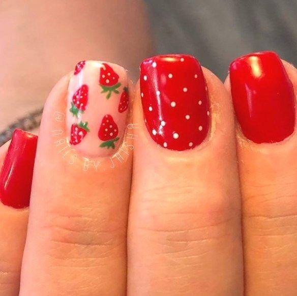 Best 30 Cool Summer Nail Art Designs 2019 Pinmagz In 2020 Strawberry Nail Art Cherry Nail Art Nail Art Summer