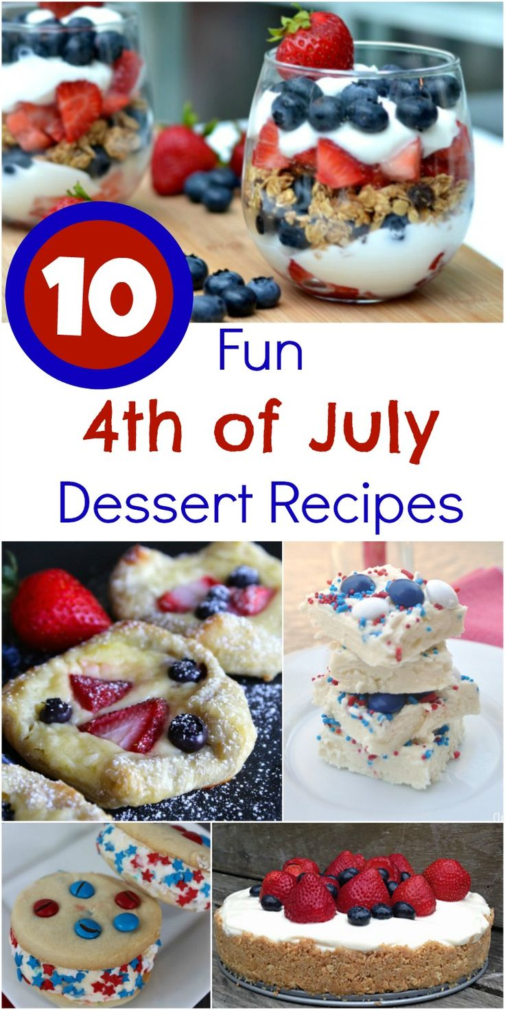 10 Fun 4th of July Dessert Recipes #recipe #IndependenceDay #4thofJuly #desserts