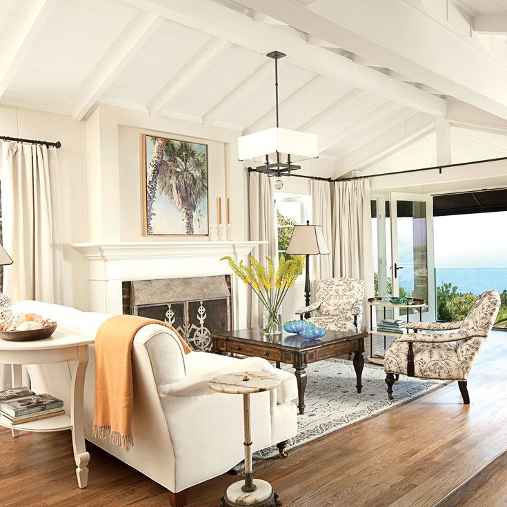 Laguna Beach Cottage Neutral DecoratingDecorating Living RoomsHome