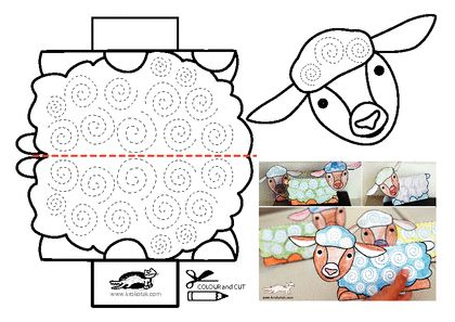 Spring Kids DIY: Colorful Happy Spring Sheep! KROKOTAK PRINT! | printables for kids