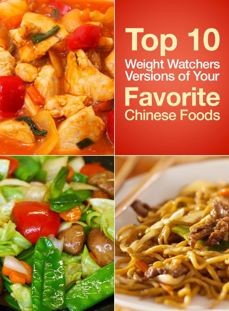 Top 10 Weight Watchers Recipes of Your Favorite Chinese Foods including Sweet and Sour Chicken, Asian Beef Noodles, Sesame Chicken, Stir Fry Vegetables, General Tsos Chicken, Chicken Fried Rice, Egg Drop Soup, and more!