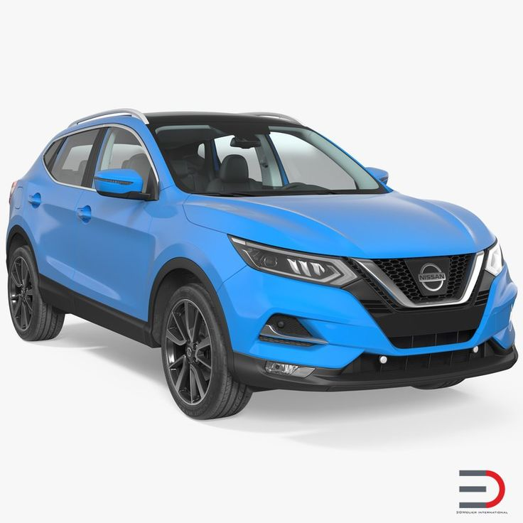 3D Nissan Qashqai 2017 Simple Interior