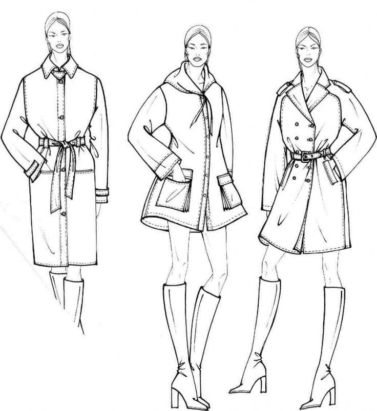 Учимся рисовать fashion-эскиз. Урок 27. Схематичный рисунок. Плащи и кейпы
