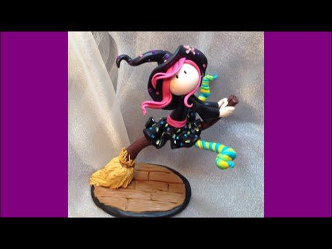 ▶ little witch/ Bruxinha- Polymer clay (Fimo) - YouTube