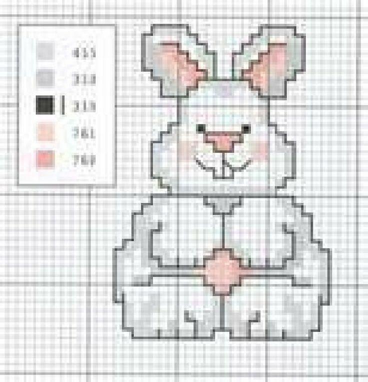 Único Patrón De Conejo De Punto Libre Ilustración - Manta de Tejer ...