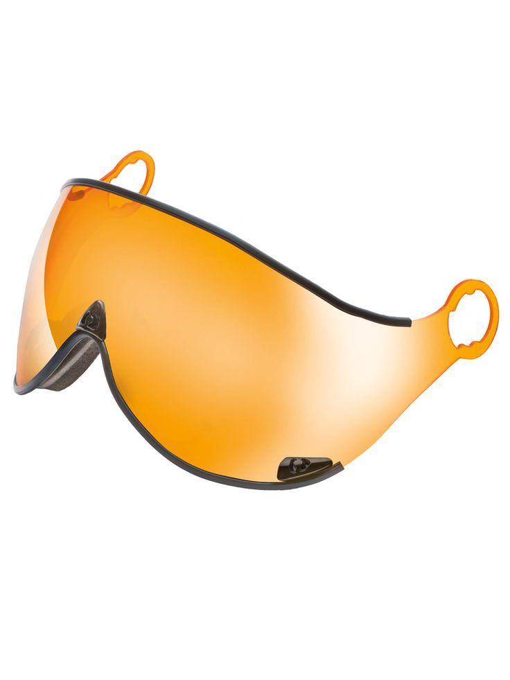 Cp replacement ski helmet visor orange mirror ski for Mirror visor