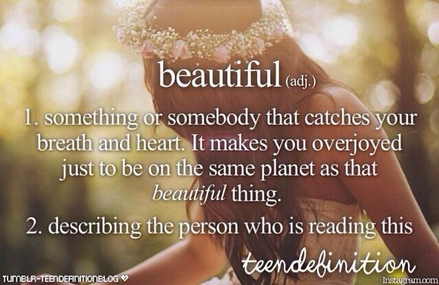 ♡ Your beautiful. Remember that. You may not see it.. But I promise you everyone else does. Stay beautiful <3