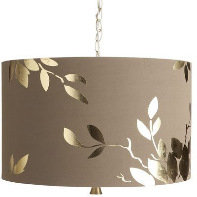 Gold leaf hanging pendant lamp pier one imports