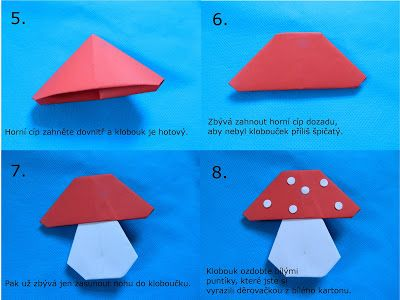Tvoření od IVETULE: Origami muchomůrky