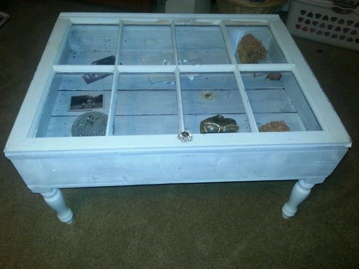 Table made of a window
