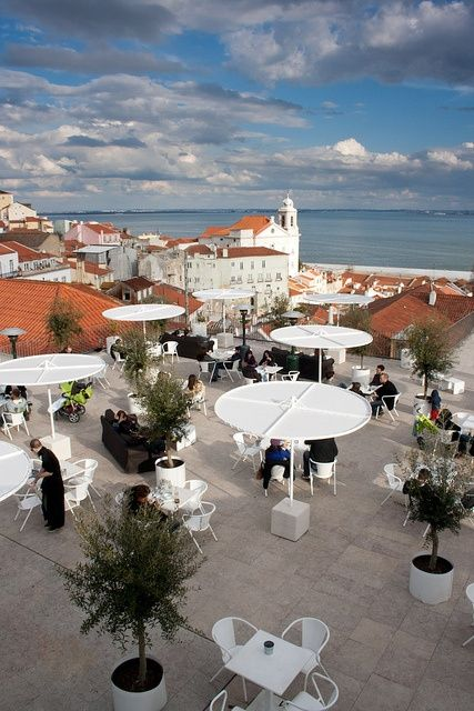 Lisboa terraces with a view, to enjoy the syn and nice weather #Portugal