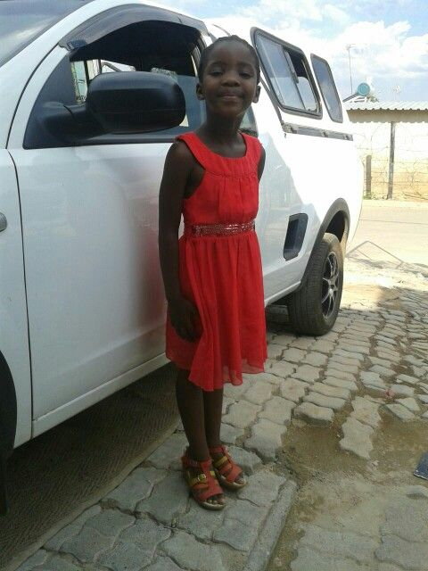 My sister's Mbali (Flower)... she looks so much like me I sometimes wonder how my own kids are gonna be like.
