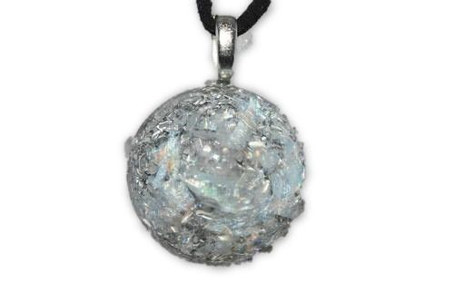 Aura Light Beams Orgone Energy Pendant -Quartz Crystal, Pyrite, Blue Kyanite