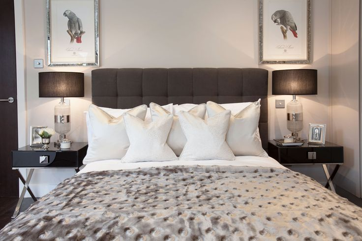 Grey colour scheme in one of the guest bedrooms | JHR Interiors