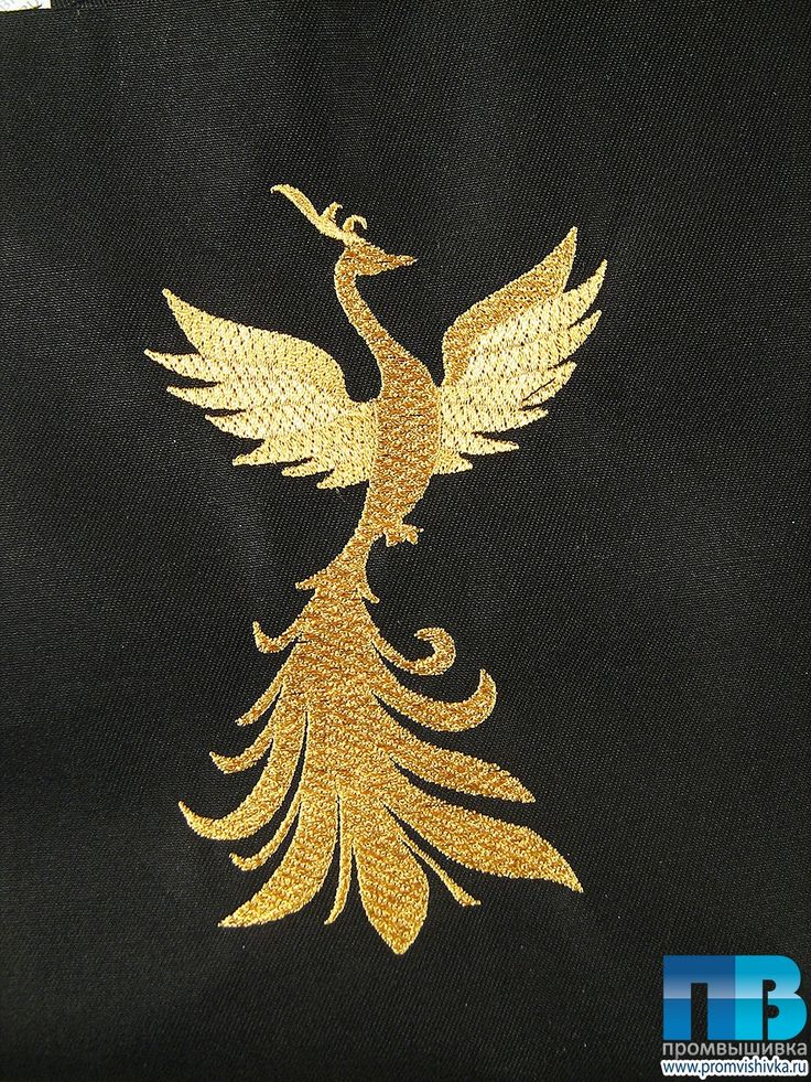 Вышитая золотом жар-птица #embroidery #gold #phoenix