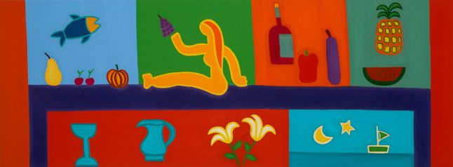 Still Life, 2008. Oil on linen, 58 x 137 cm. Private collection. #painting #oilpainting #finearts #contemporaryart #cristinarodriguez