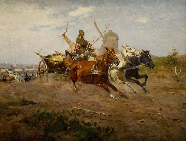 Jozef Brandt; Returning from the fair.