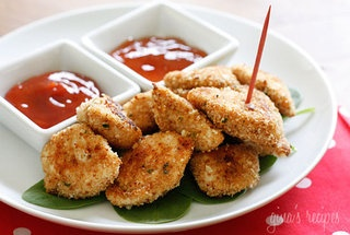 Chicken nuggets, Healthy baked chicken and Baked chicken nuggets on ...