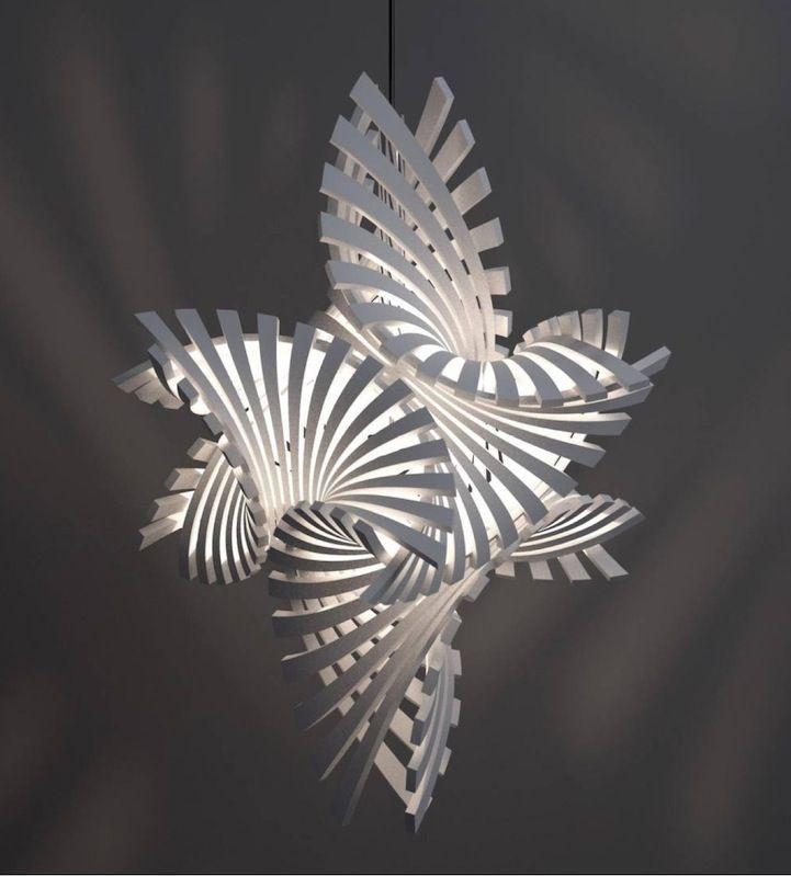 Diy Hangender Weihnachtsbaum Aus Papier Und Messing Hangender Baum Aus Diy Selbermachen 3d Prints Lampendesign Lichtkunst