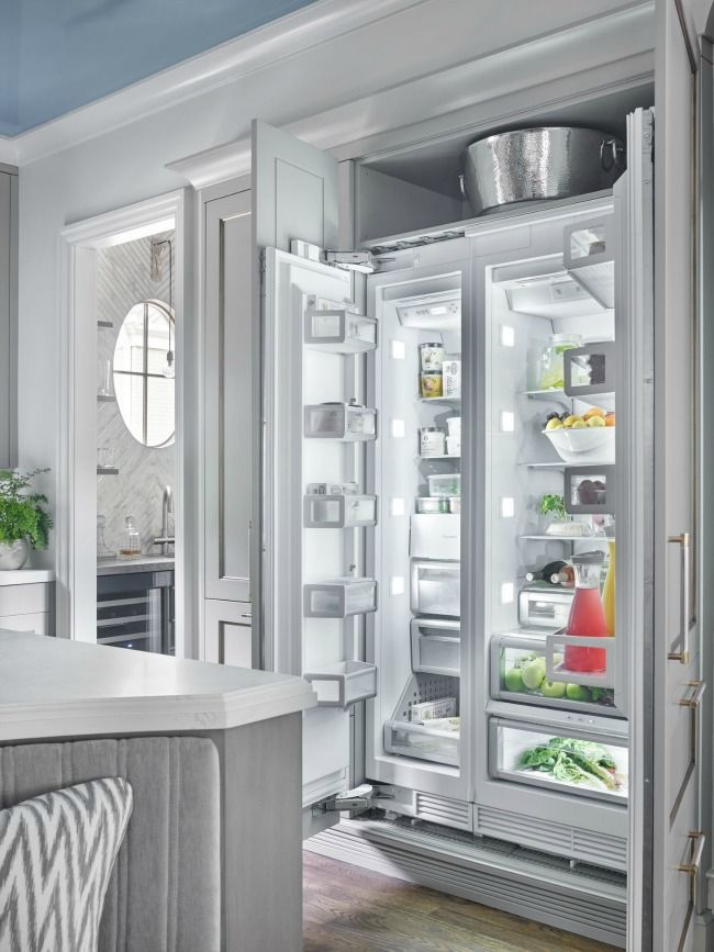 Integrated Cabinets That Extend Above Refrigerator Luxe
